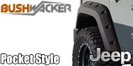 Bushwacker Jeep <br>Pocket Style ® Fender Flares <br>- Rear Pair