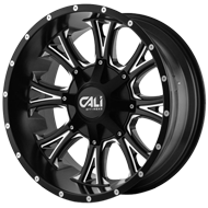 Cali Offroad Wheels <br/>Americana Satin Black with Milled Spokes