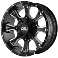 Cali Offroad Wheels <br/>Anarchy Satin Black with Milled Spokes