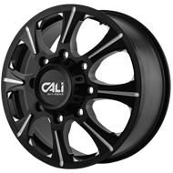 Cali Offroad Wheels <br/>Brutal Black with Milled Spokes