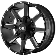 Cali Offroad Wheels <br/>Busted Satin Black with Milled Spokes