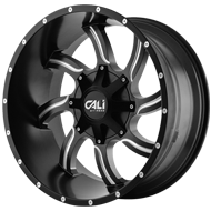 Cali Offroad Wheels <br/>Twisted Satin Black with Milled Spokes