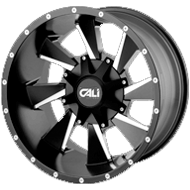 Cali Offroad Wheels<br/> Distorted Satin Black with Milled Spokes