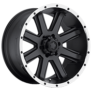 Ultra Wheels<br /> 195 Crusher Satin Black w/ Diamond Cut Lip