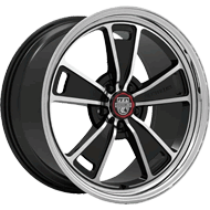 Centerline Alloy Wheels <br/>630MB MM1 Mirror Machined Face and Lip with Gloss Black Accents