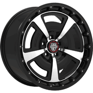 Centerline Alloy Wheels <br/>631MB MM2 Gloss Black with Mirror Machined Face