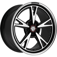 Centerline 632MB MM3 Gloss Black Machined Face Wheels