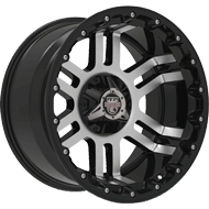 Centerline Alloy Wheels <br/>830 LT1MB Gloss Black with Machined Face