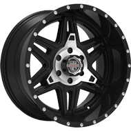 Centerline Alloy Wheels <br/>831MB LT2 Gloss Black with Machined PCD Bowl