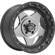 Centerline Alloy Wheels <br/>832GM RT1 Satin Graphite with Brushed Center