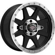 Centerline Alloy Wheels <br/>833MB RT2 Satin Black with Machined Center & Lip