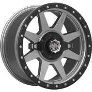 Centerline Alloy Wheels <br/>833GB RT2 Satin Graphite with Black PCD Bowl and Lip