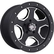 Centerline Alloy Wheels <br/>836MB RT3 Machined Satin Black & Stainless Steel Lip-Edge Bolts