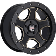 Centerline Alloy Wheels <br/>836BZ RT3 Satin Black with Bronze Tint Window Accents