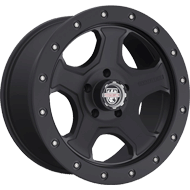 Centerline Alloy Wheels <br/>836SB RT3 Satin Black & Stainless Steel Lip-Edge Bolts
