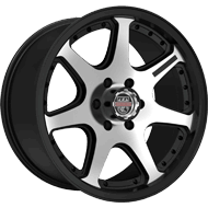 Centerline Wheels <br/>837MB RT4 Machined Center with Satin Black Accents
