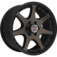 Centerline Alloy Wheels <br/>837BZ RT4  Bronze Tint Center with Satin Black Accents