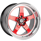 Cosmis Racing Wheels<br /> XT-005R Red w/ Machined Lip