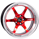 Cosmis Racing Wheels<br /> XT-006R Red w/ Machined Lip