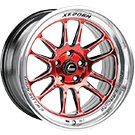 Cosmis Racing Wheels<br /> XT-206R Red w/ Machined Lip