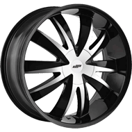 DIP WHEELS<br /> D37 EDGE GLOSS BLACK MACHINED FACE