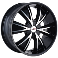 DIP WHEELS<br /> D38 VIBE GLOSS BLACK/MACHINED FACE