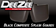 Dee Zee<br /> Black Composite Splash Guards