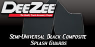 Dee Zee<br />Black Composite Splash Guards