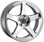 Detroit Wheels <br> Cobra 815 Silver with Machined Face