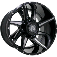 Diablo Offroad DO-01 Conflict <br/>Gloss Black Machined Wheels