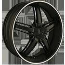 Dip Wheels <br> Ambush D68 Black Machined