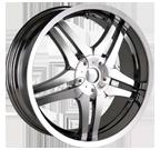 Dip Wheels <br/>Dagger D62 Chrome