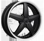 Dip Wheels <br/>Laser D95 Black Machined