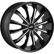 Dip Wheels<br/> Fusion D40 Gloss Black with Machined Face