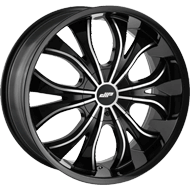 Dip Wheels<br/> Hustler D42 Gloss Black with Machined Face