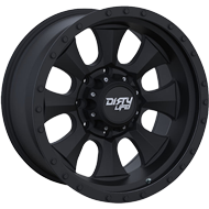 Dirty Life Ironman 9300 Matte Black/Black Beadlock Wheels