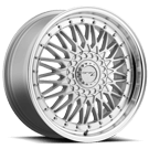 Drifz 310MS Retro <br/>Mirror Machined Lip with Titanium Silver Center