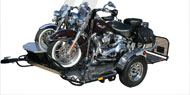 Motorcycle Drop Tail Trailers and Accessories