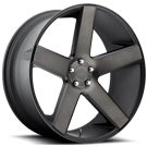 DUB Wheels Baller S116 <br/> Black and Machined with Dark Tint