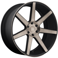 DUB Wheels Future S127 <br/> Black and Machined with Dark Tint