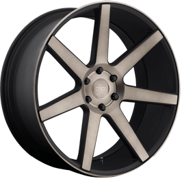 DUB Wheels Future S127 <br/> Black Machined