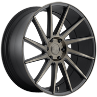 DUB Wheels Chedda S128 <br/> Black and Machined with Dark Tint