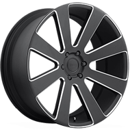 DUB Wheels 8-Ball S187<br /> Black Milled