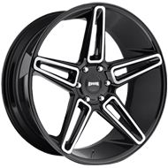 DUB Wheels LIT S203<br /> Black Brush