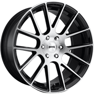 DUB Wheels Luxe S206 <br/> Gloss Black Brushed