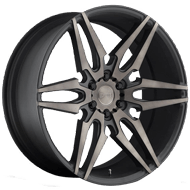 DUB Wheels Attack S211<br /> Black Machined