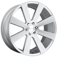 DUB Wheels 8-Ball S213 <br/> Brushed with Silver Windows