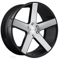 DUB Wheels Baller S217<br /> Black Brush