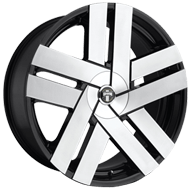 DUB Wheels Butta S225 <br/> Brushed with Gloss Black