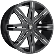 DUB Wheels Stacks S227 <br/> Gloss Black Milled